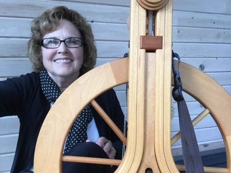Nelle Cooper with Spinning Wheel