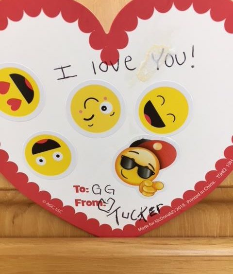 Valentine to GG from Tucker